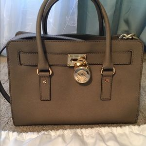 Michael Kors Dark Dune Hamilton Bag
